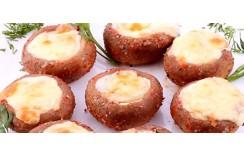 Грибы на мангале с сыром